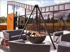 Cowboy Cauldron Firepit Utah Custom Homes