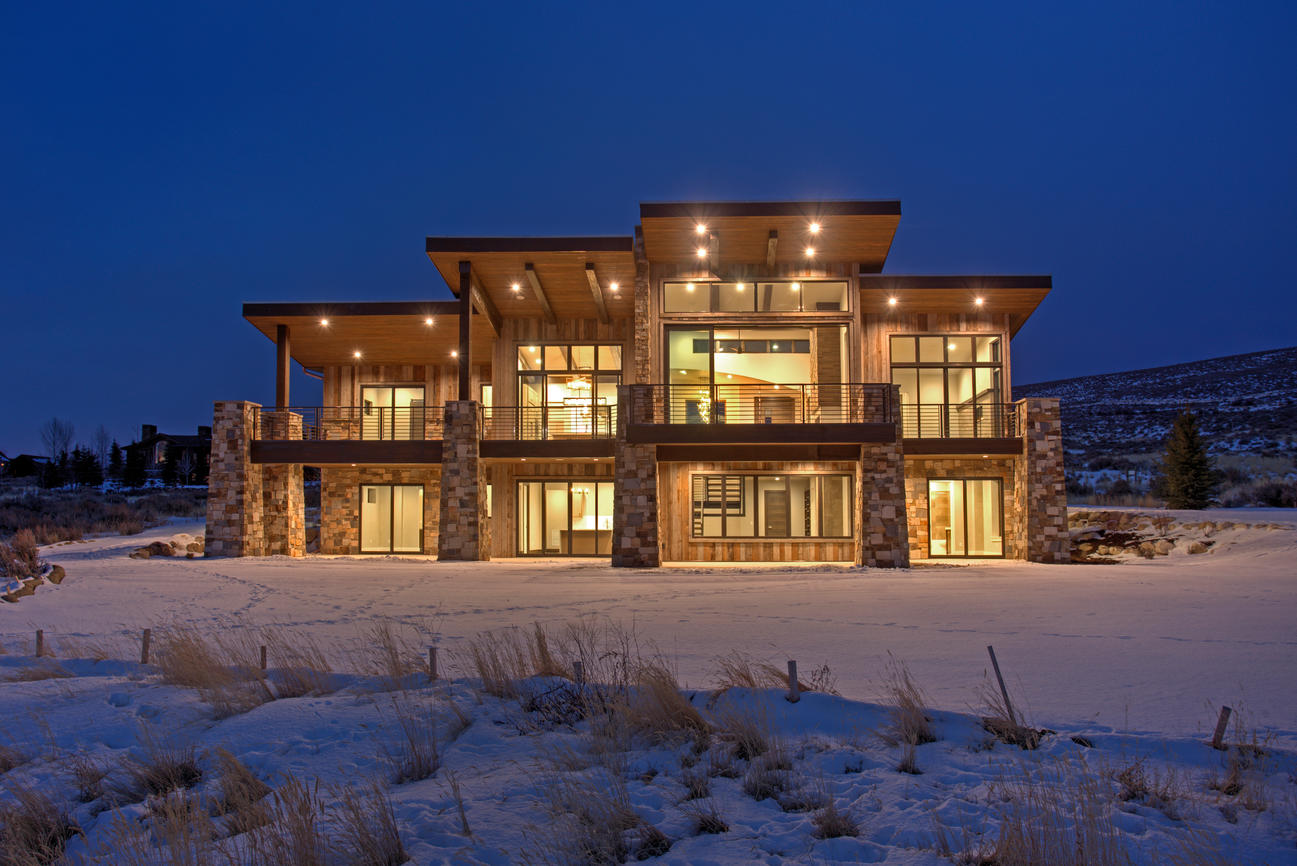Exterior photo shows the grandeur of this home